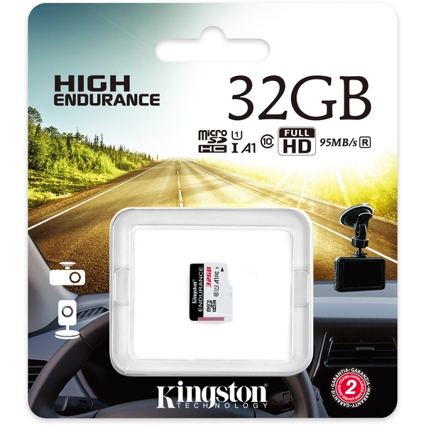 Original Kingston High Endurance Class 10 32GB microSD Memory Card (SDCE/32GB)