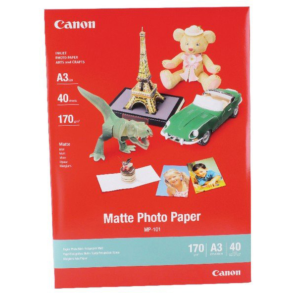 Original Canon 7981A008 A3 170gsm Matte Photo Paper - 40 Sheets (MP-101A3)