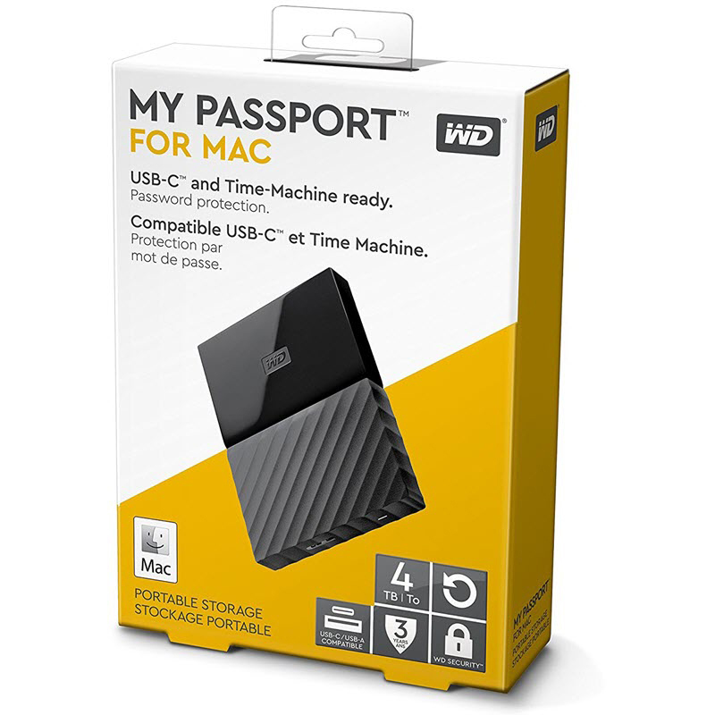 Original Western Digital My Passport 4TB External Hard Drive (WDBP6A0040BBK)