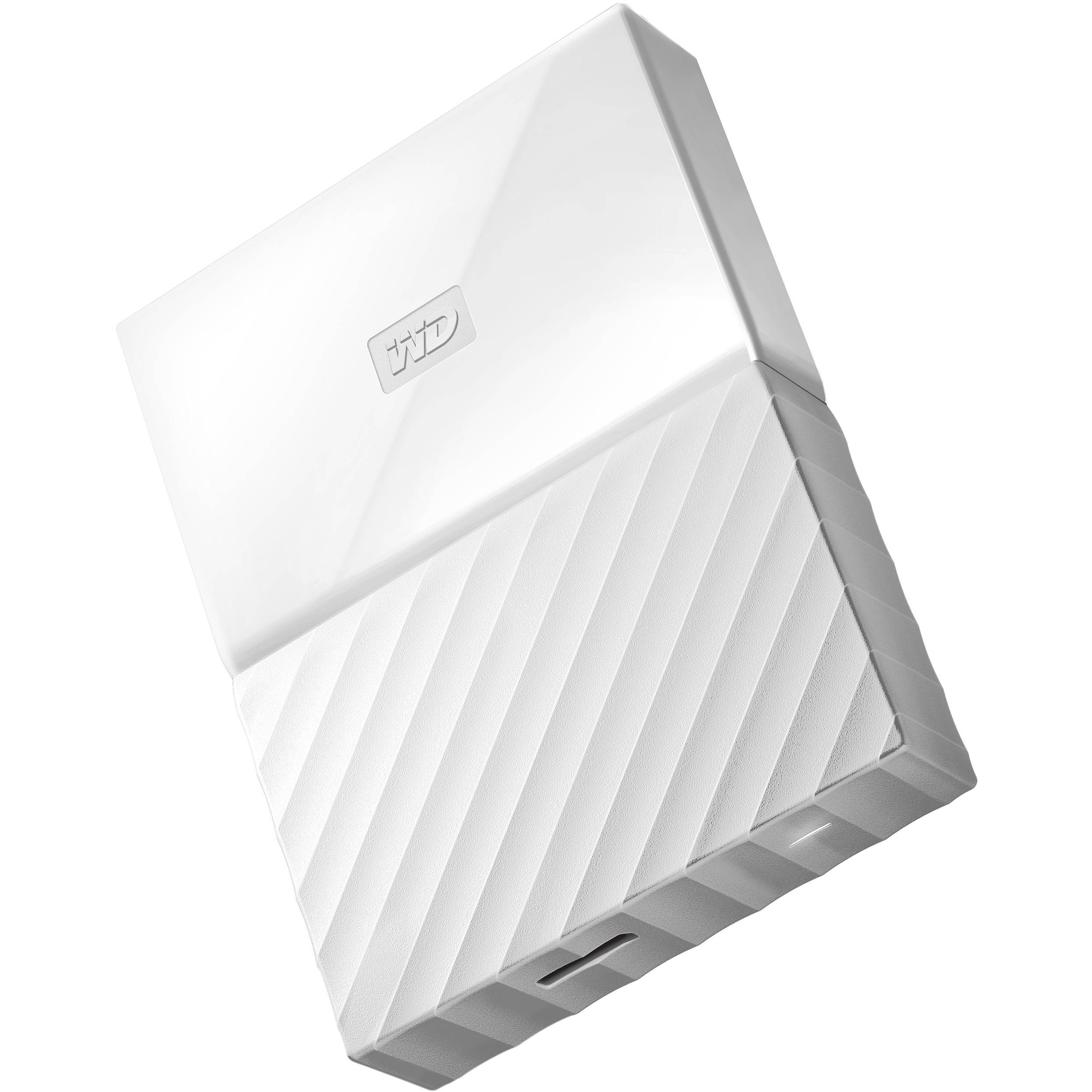 Original Western Digital My Passport White 4TB USB 3.0 External Hard Drive  (WDBYFT0040BWT)