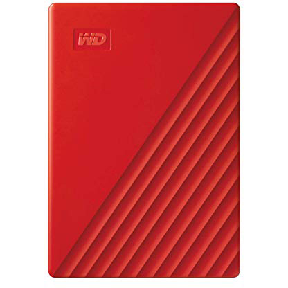 Original Western Digital 2TB My Passport Red USB 3.2 Gen 1 External Hard Drive (WDBYVG0020BRD-WESN)