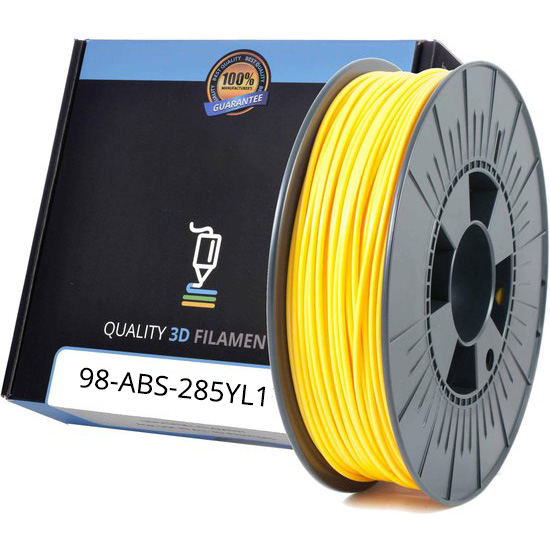Premium Compatible ABS 2.85mm Yellow 1kg 3D Filament (ABS285YL1)