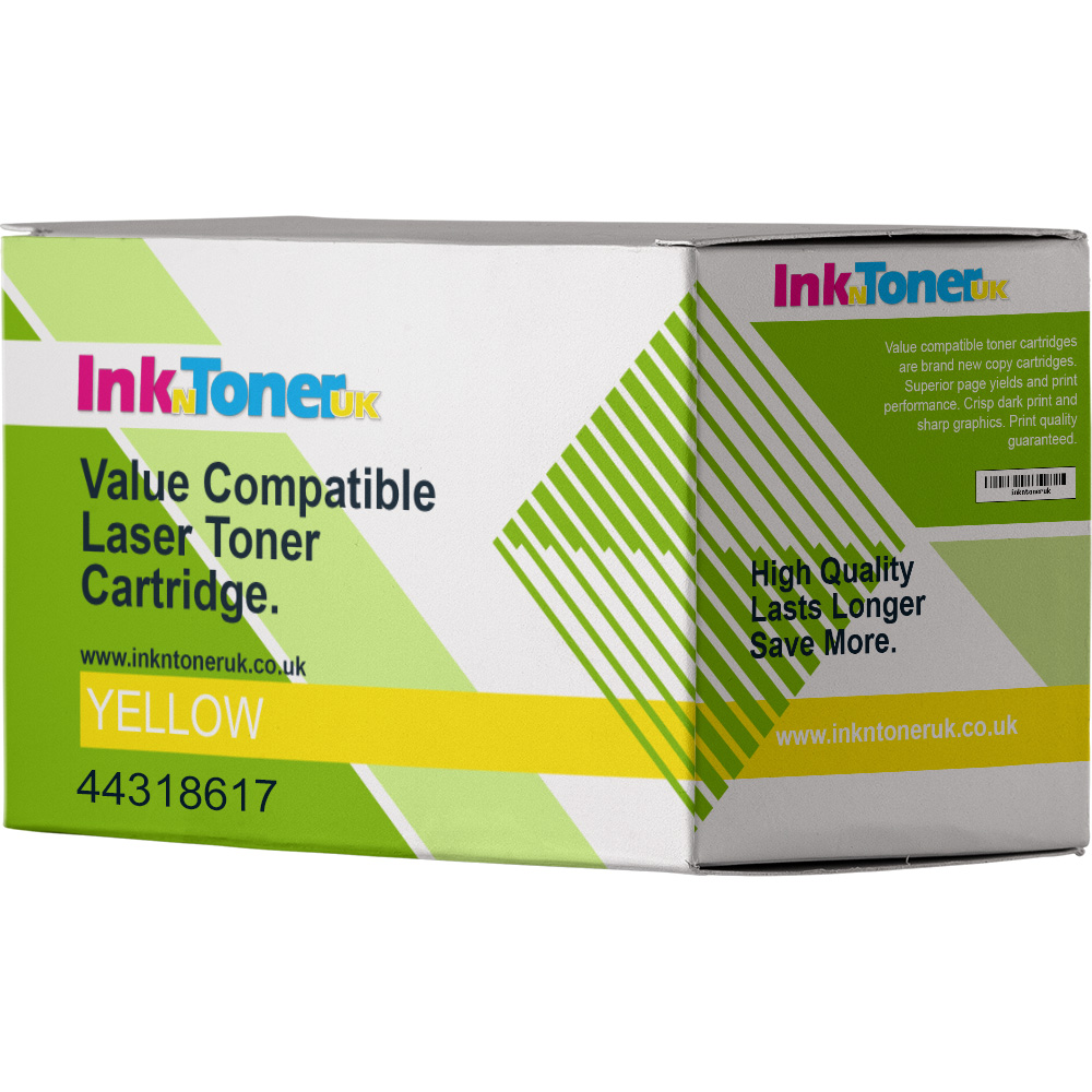Value Compatible OKI 44318617 Yellow Toner Cartridge (44318617)