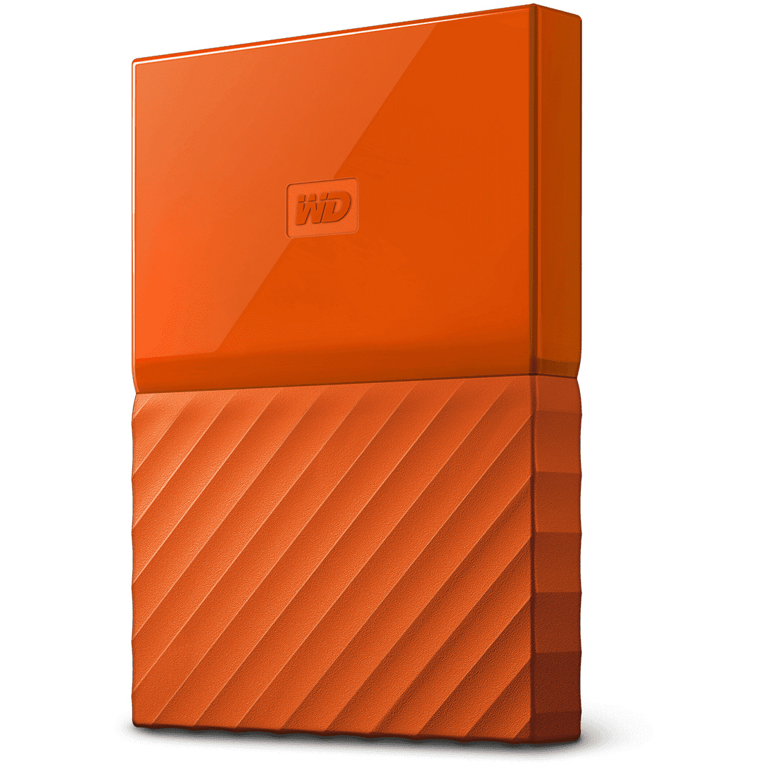 Original Western Digital My Passport 4TB Orange USB 3.0 External Hard Drive (WDBYFT0040BOR-EEEX)