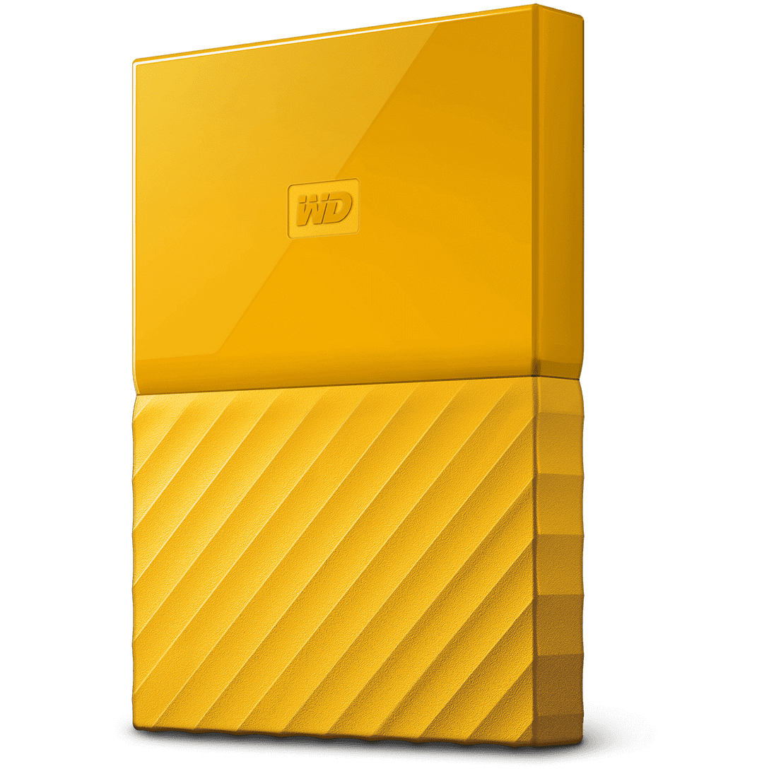 Original Western Digital My Passport 4TB Yellow USB 3.0 External Hard Drive (WDBYFT0040BYL-EEEX)