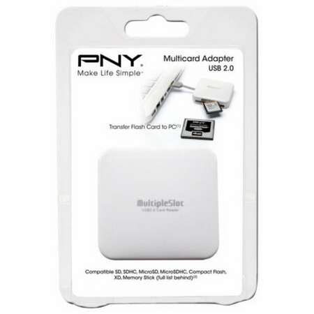 Original PNY All-in-One USB 2.0 Memory Card Reader (AXP724)