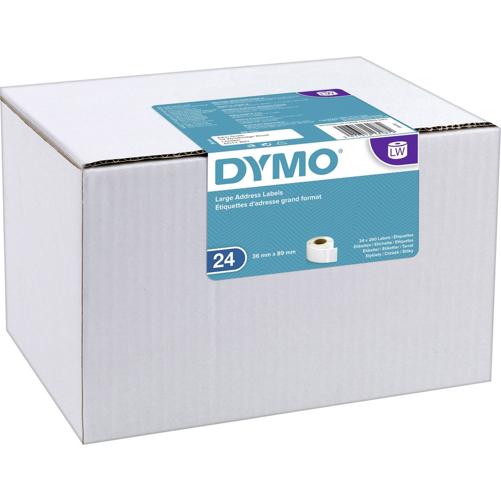 Original Dymo 99012 36 x 89mm Large Address Labels 24 Pack (S0722390)
