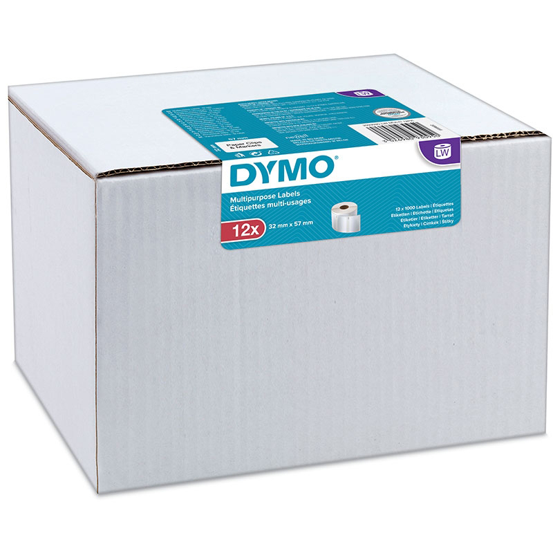 Original Dymo 11354 32 x 57mm Multipurpose Labels 12 Pack (2093095)