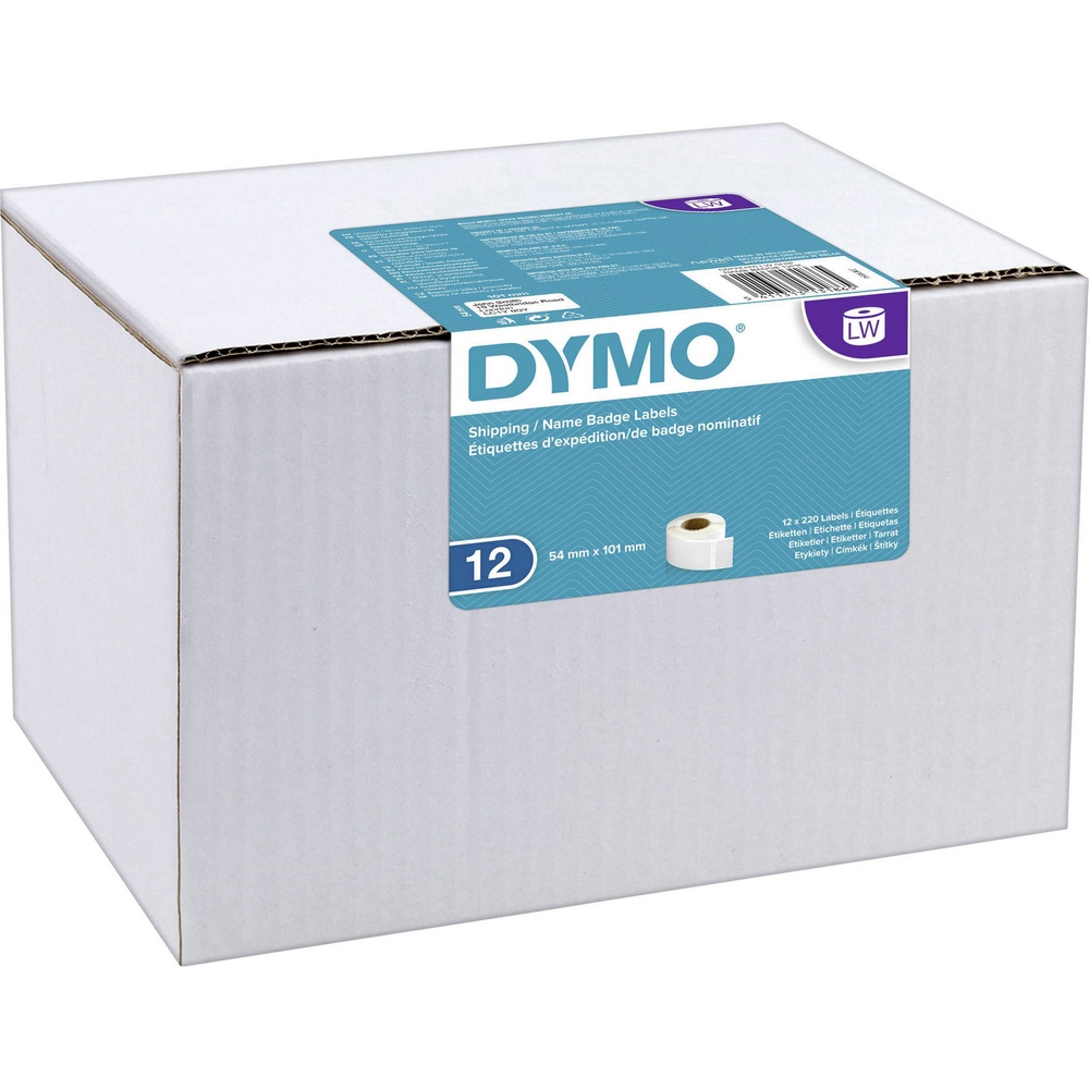 Original Dymo 99014 Shipping / Name Badge Labels 12 Pack (S0722420)