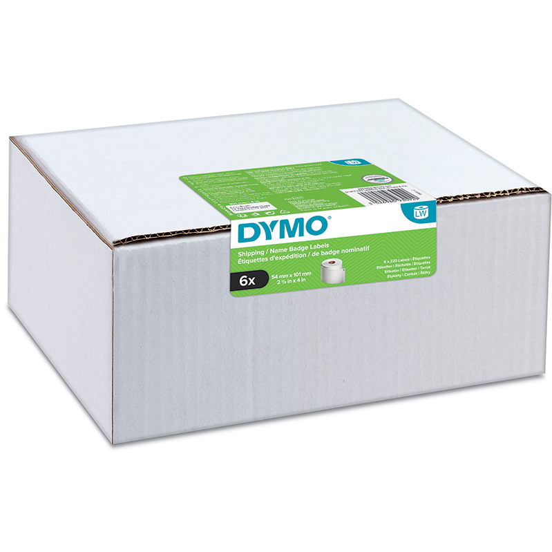 Original Dymo 99014 54 x 101mm Shipping Labels 6 Pack (2093092)