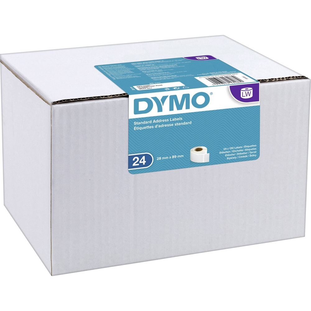 Original Dymo 99010 89 x 28mm Standard Address Labels 24 Pack (S0722360)