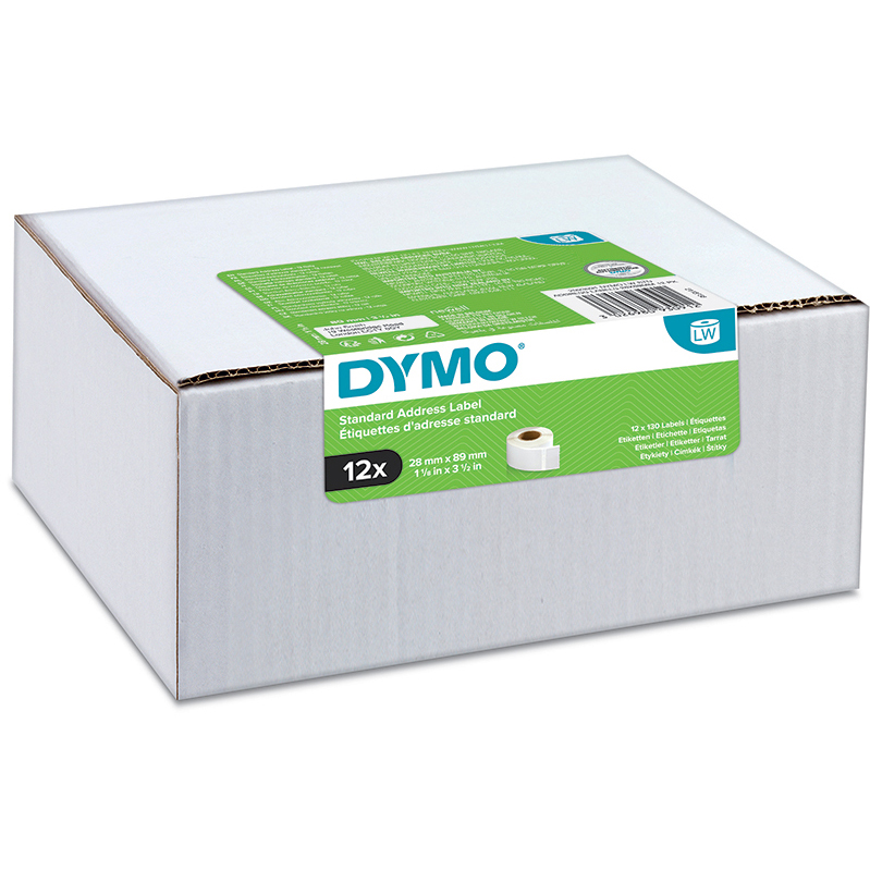Original Dymo 99010 28 x 89mm Standard Address Labels 12 Pack (2093091)