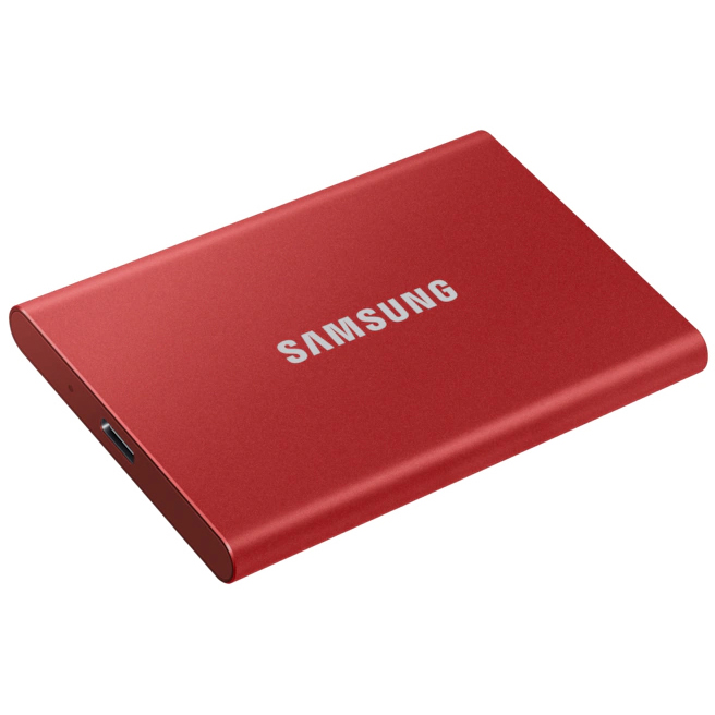 Original Samsung T7 2TB Red USB 3.2 Portable Solid State Drive (MU-PC2T0R/WW)