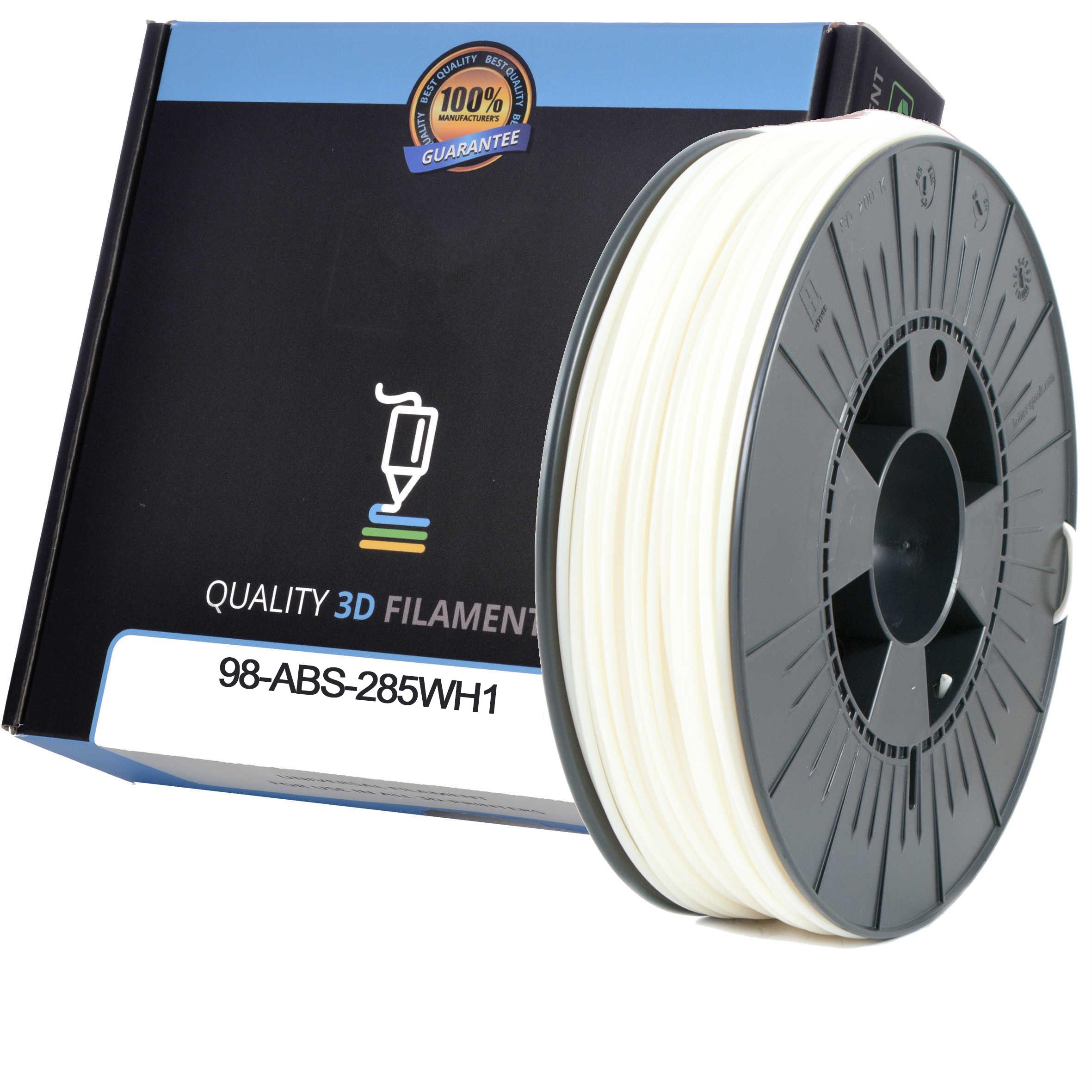 Premium Compatible ABS 1.75mm White 0.5kg 3D Filament (98-ABS-175WH1)