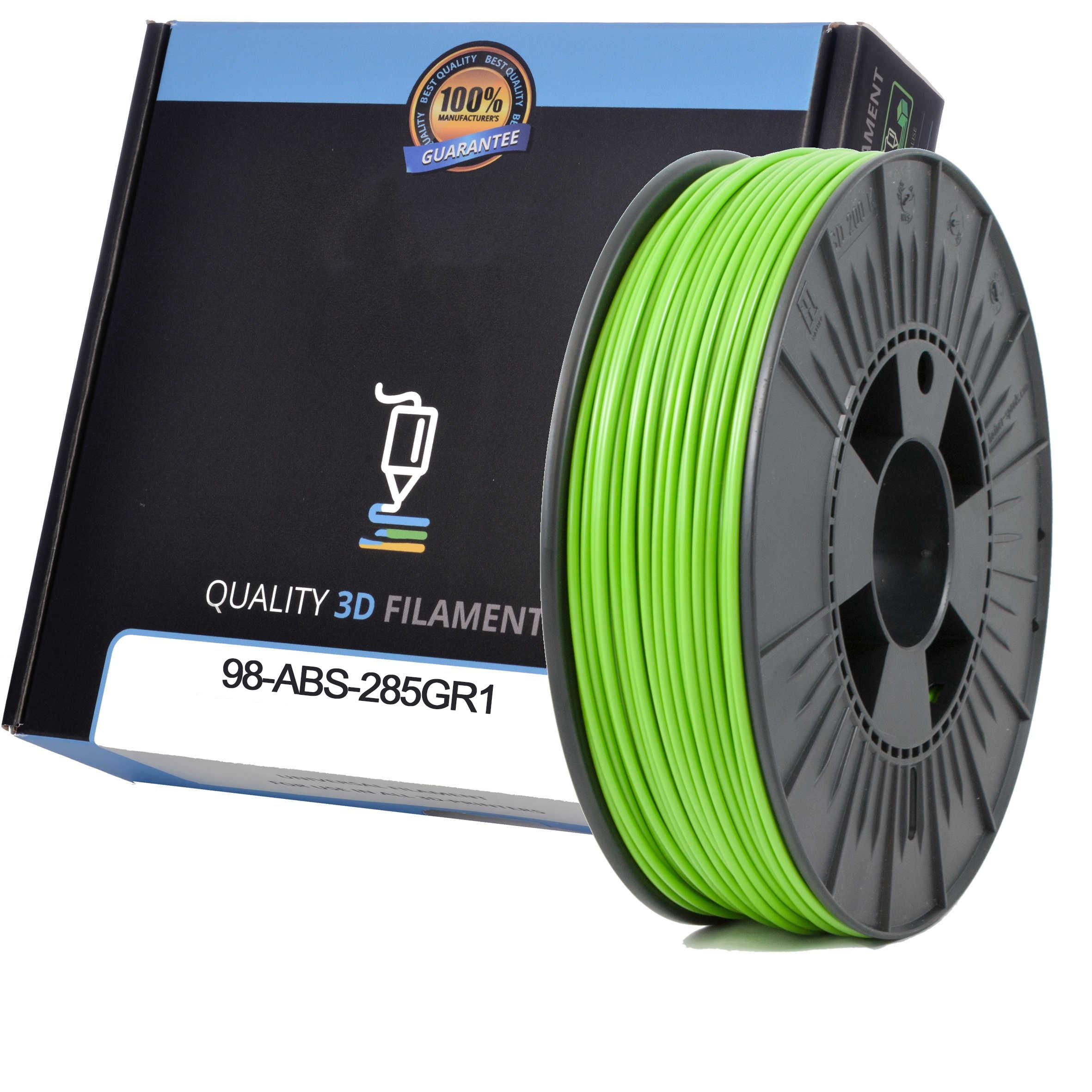 Premium Compatible ABS 2.85mm Apple Green 0.5kg 3D Filament (98-ABS-285GR1)