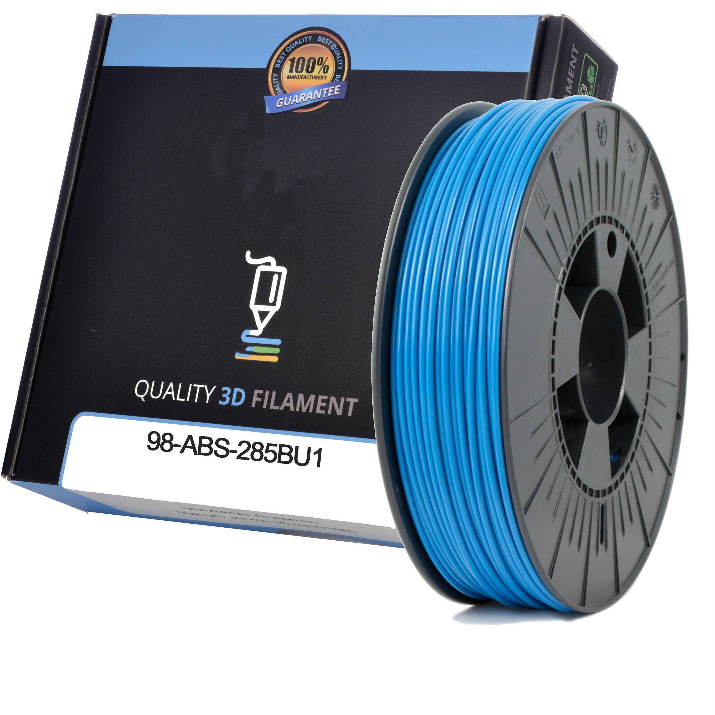 Premium Compatible ABS 2.85mm Sky Blue 0.5kg 3D Filament (98-ABS-285BU1)