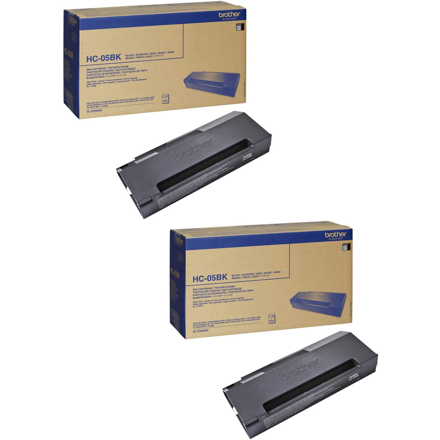 Original Brother HC05BK Black Twin Pack Super High Capacity Ink Cartridges (HC05BK)