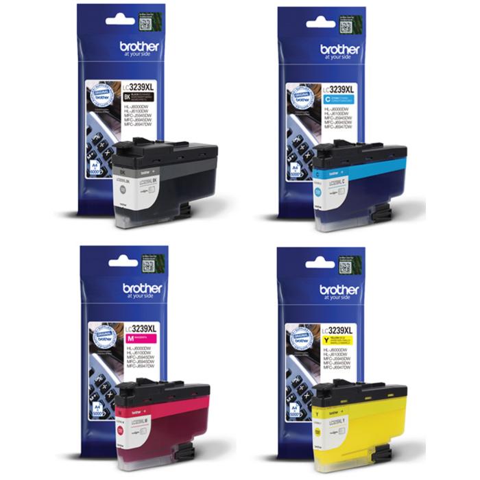 Original Brother LC-3239XL CMYK Multipack High Capacity Ink Cartridges (LC3239XLBK/ LC3239XLC/ LC3239XLM/ LC3239XLY)