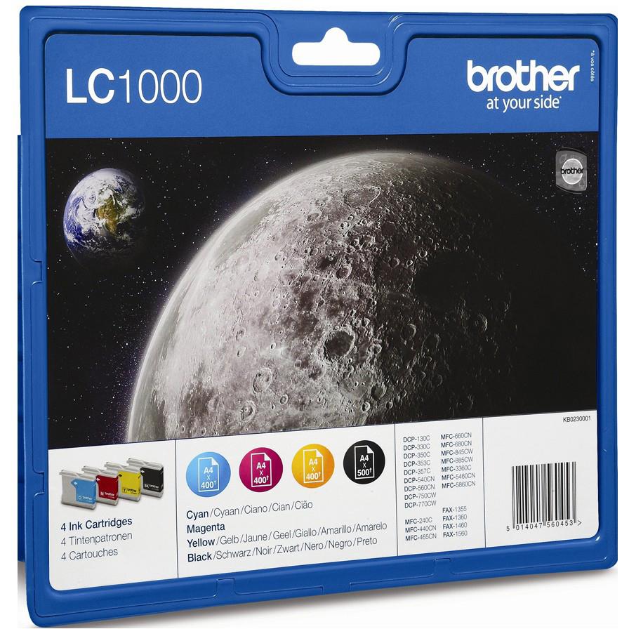 Original Brother LC1000 CMYK Multipack Ink Cartridges (LC1000VALBP)