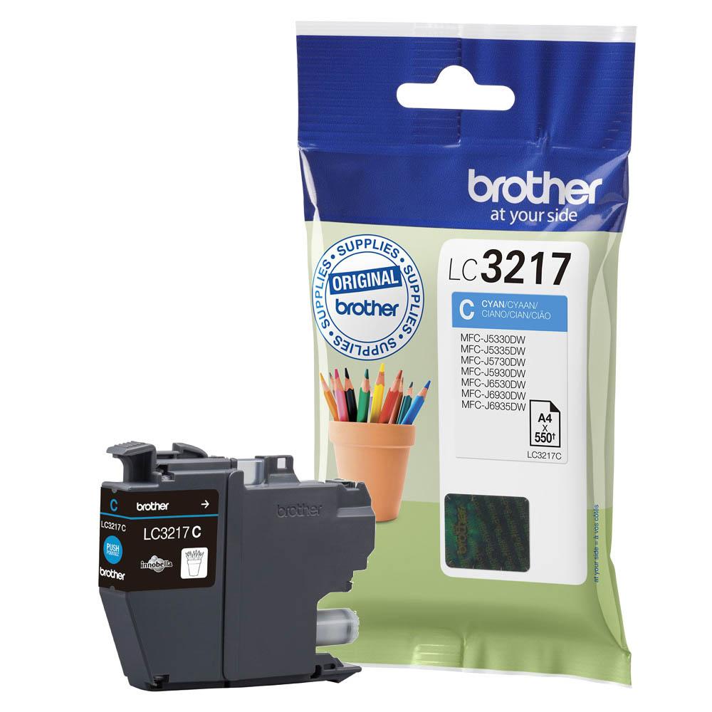Original Brother LC3217C Cyan Ink Cartridge (LC3217C)