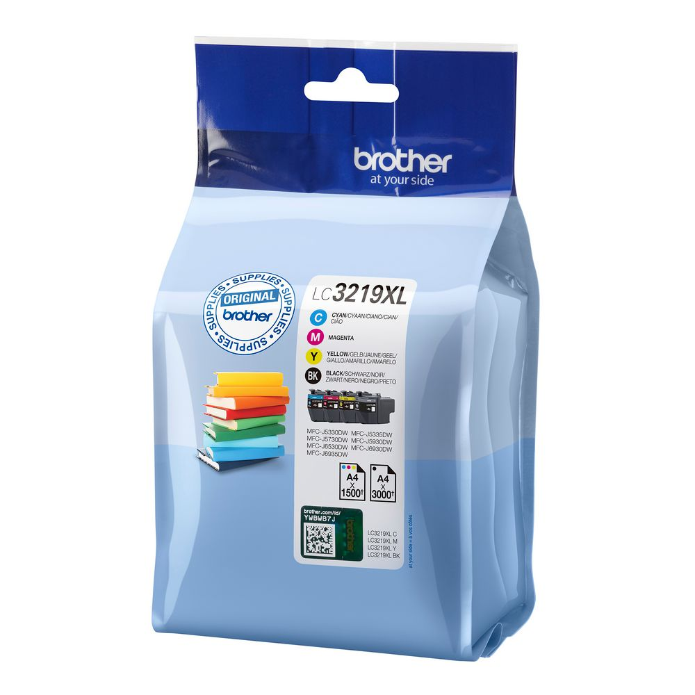 Original Brother LC3219XL CMYK Multipack High Capacity Ink Cartridges (LC3219XLVAL)