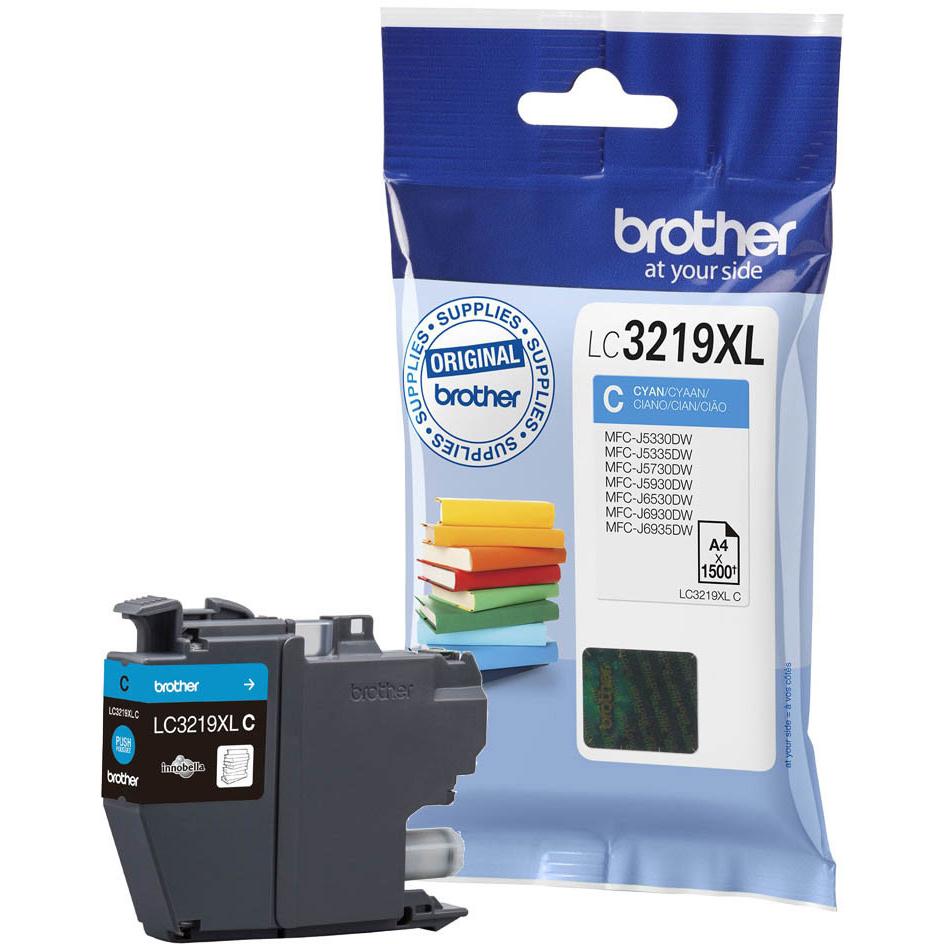 Original Brother LC3219XLC Cyan High Capacity Ink Cartridge (LC3219XLC)
