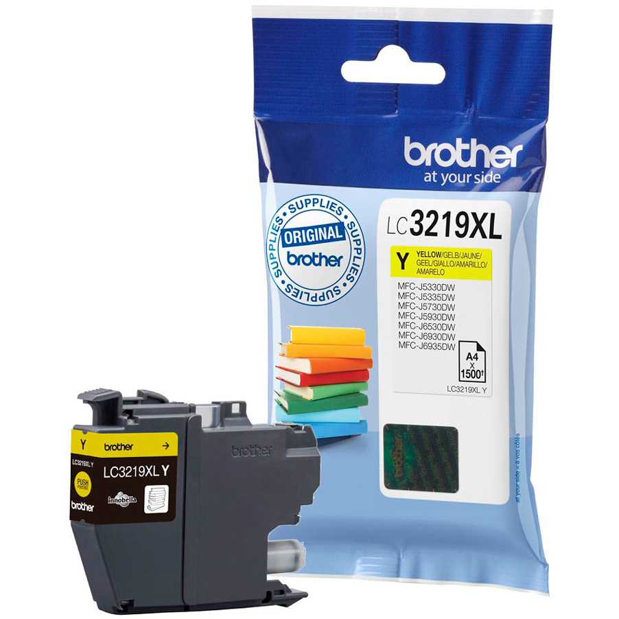 Original Brother LC3219XLY Yellow High Capacity Ink Cartridge (LC3219XLY)