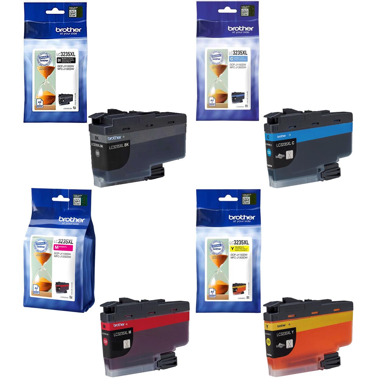 Original Brother LC3235XL CMYK Multipack High Capacity Ink Cartridges (LC3235XLBK/ LC3235XLC/ LC3235XLM/ LC3235XLY)