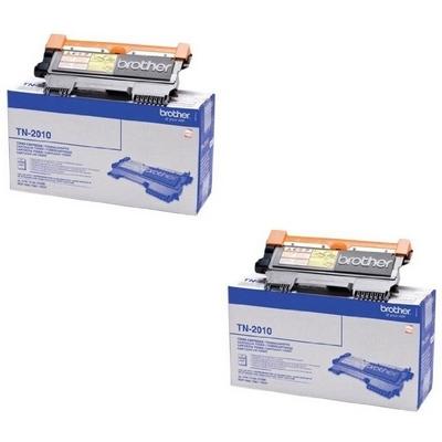 Original Brother TN-2010 Black Twin Pack Toner Cartridges (TN2010)