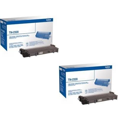 Original Brother TN-2320 Black Twin Pack High Capacity Toner Cartridges (TN2320)