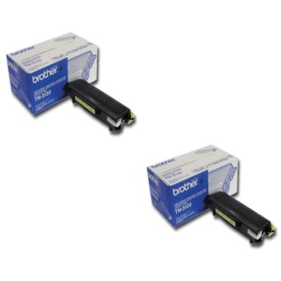 Original Brother TN-3130 Black Twin Pack Toner Cartridges (TN3130)