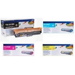 Original Brother TN-241 / TN-245 CMYK Multipack High Capacity Toner Cartridges (TN241BK/ TN245C/ TN245M/ TN245Y)