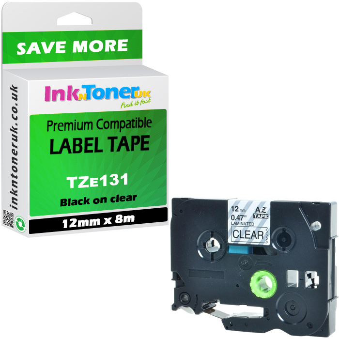 US STOCK 1X Black on Green 18mm Label Tape For Brother P-touch TZ TZe 741 PT9600