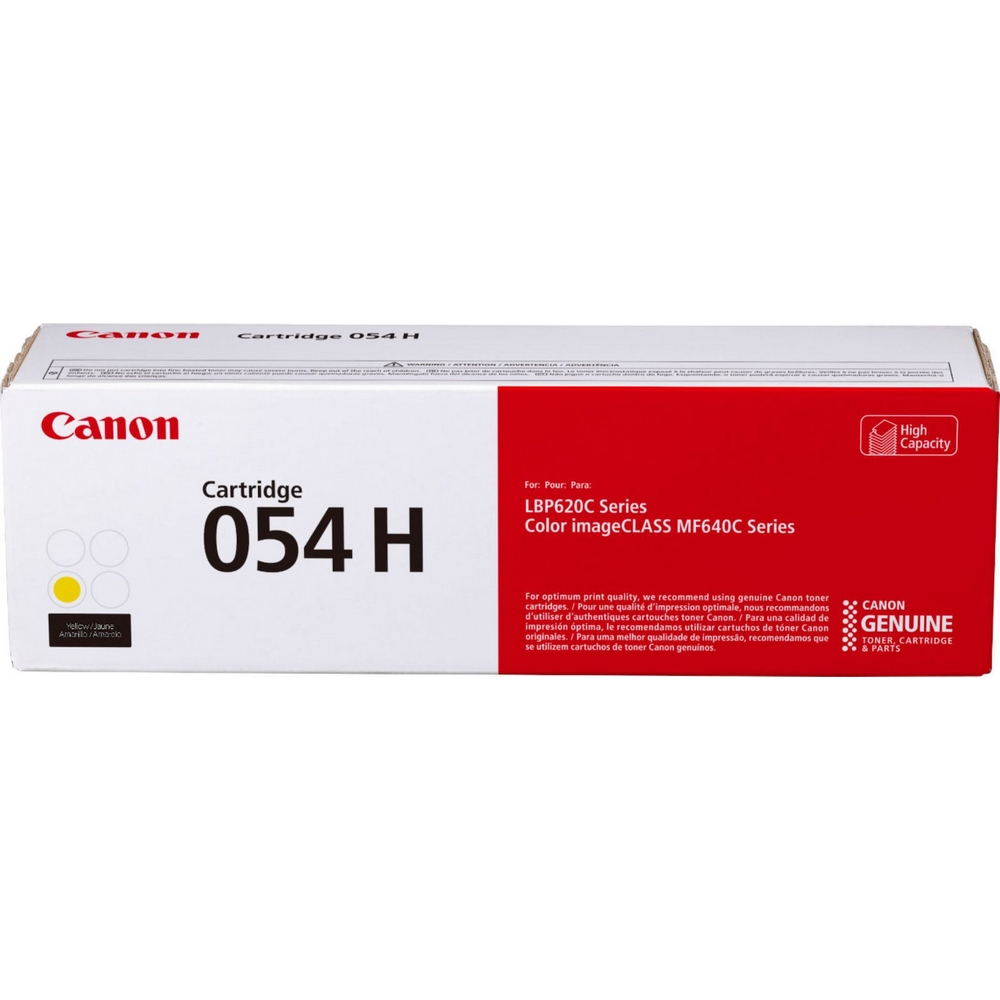 Original Canon 054H Yellow High Capacity Toner Cartridge (3025C002)