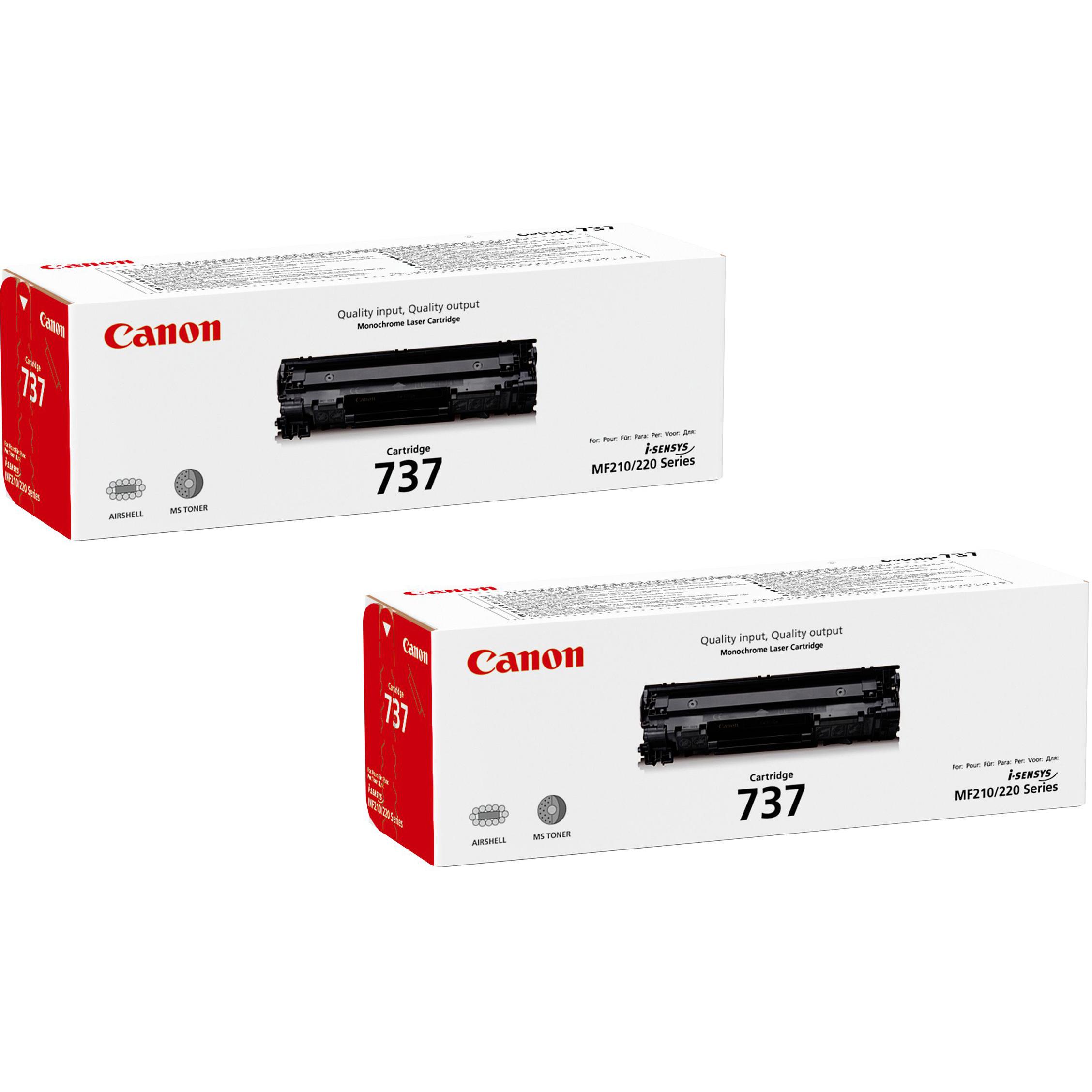 Original Canon 737 Black Twin Pack Toner Cartridges (9435B002)