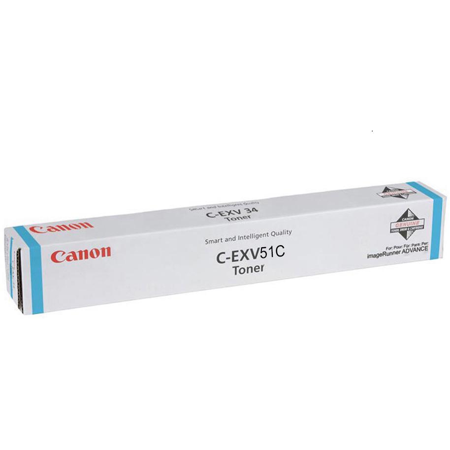 Original Canon C-EXV51C Cyan High Capacity Toner Cartridge (0482C002)