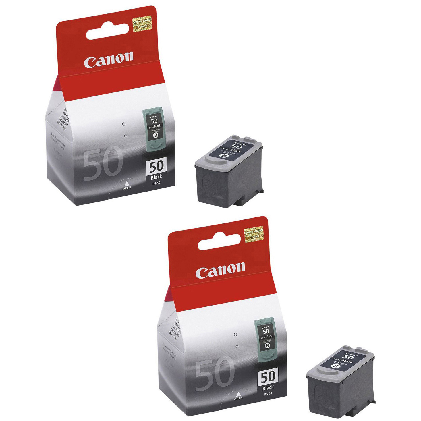 Original Canon PG-50 Black Twin Pack High Capacity Ink Cartridges (0616B001)