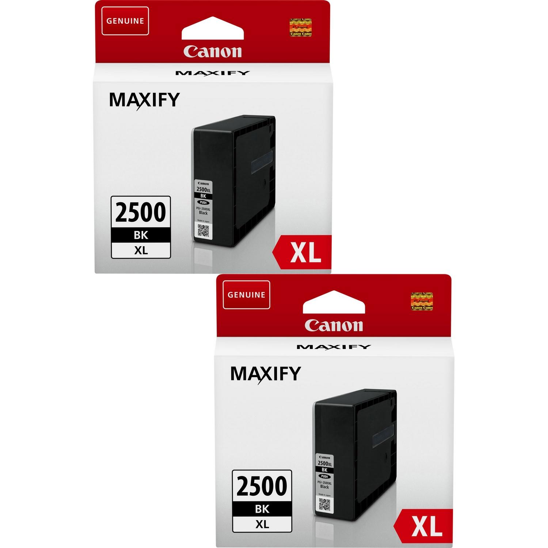 Original Canon PGI-2500BKXL Black Twin Pack High Capacity Ink Cartridges (9254B001)