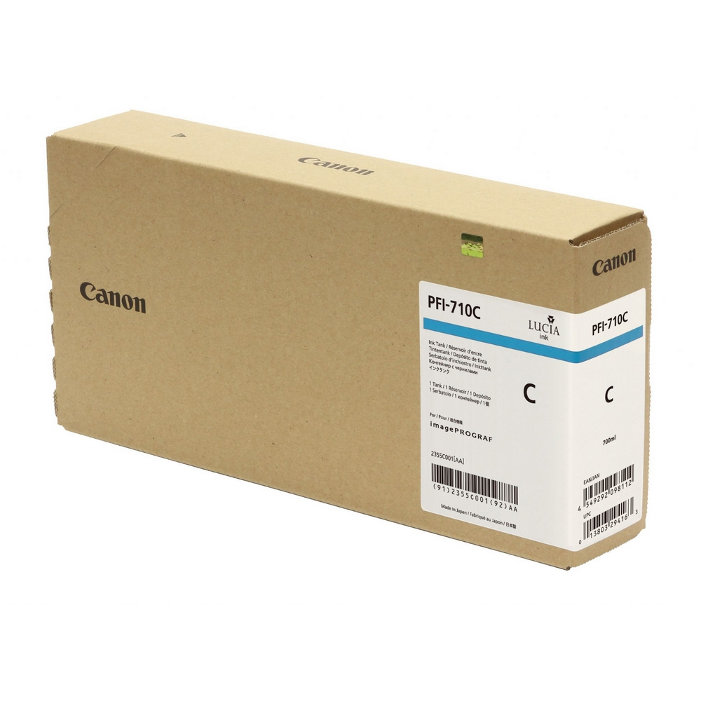 Original Canon PFI-710C Cyan High Capacity Ink Cartridge (2355C001AA)