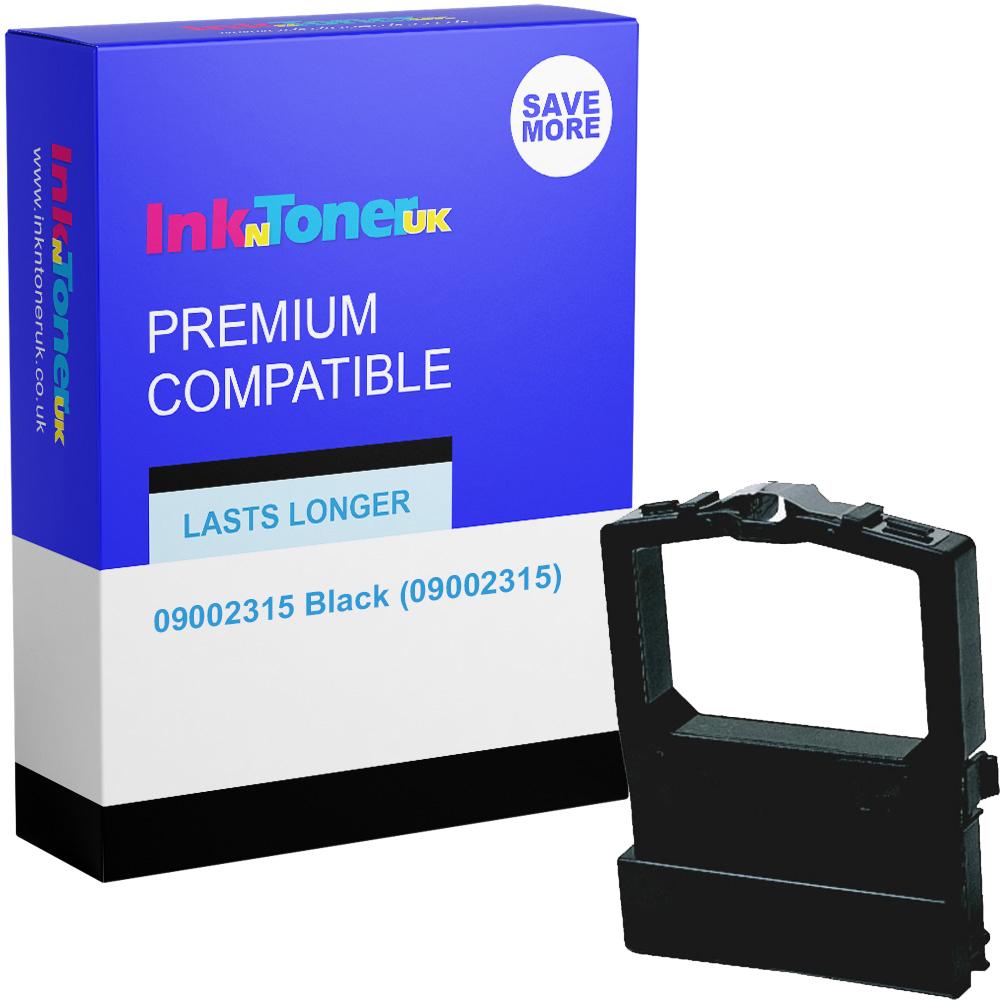 Premium Compatible OKI 09002315 Black Fabric Ink Ribbon (09002315)