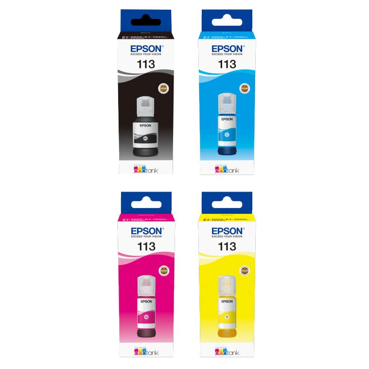 Original Epson 113 CMYK Multipack Ink Bottles (C13T06B140/ C13T06B240/ C13T06B340/ C13T06B440)