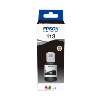 Original Epson 113 Black Ink Bottle (C13T06B140)
