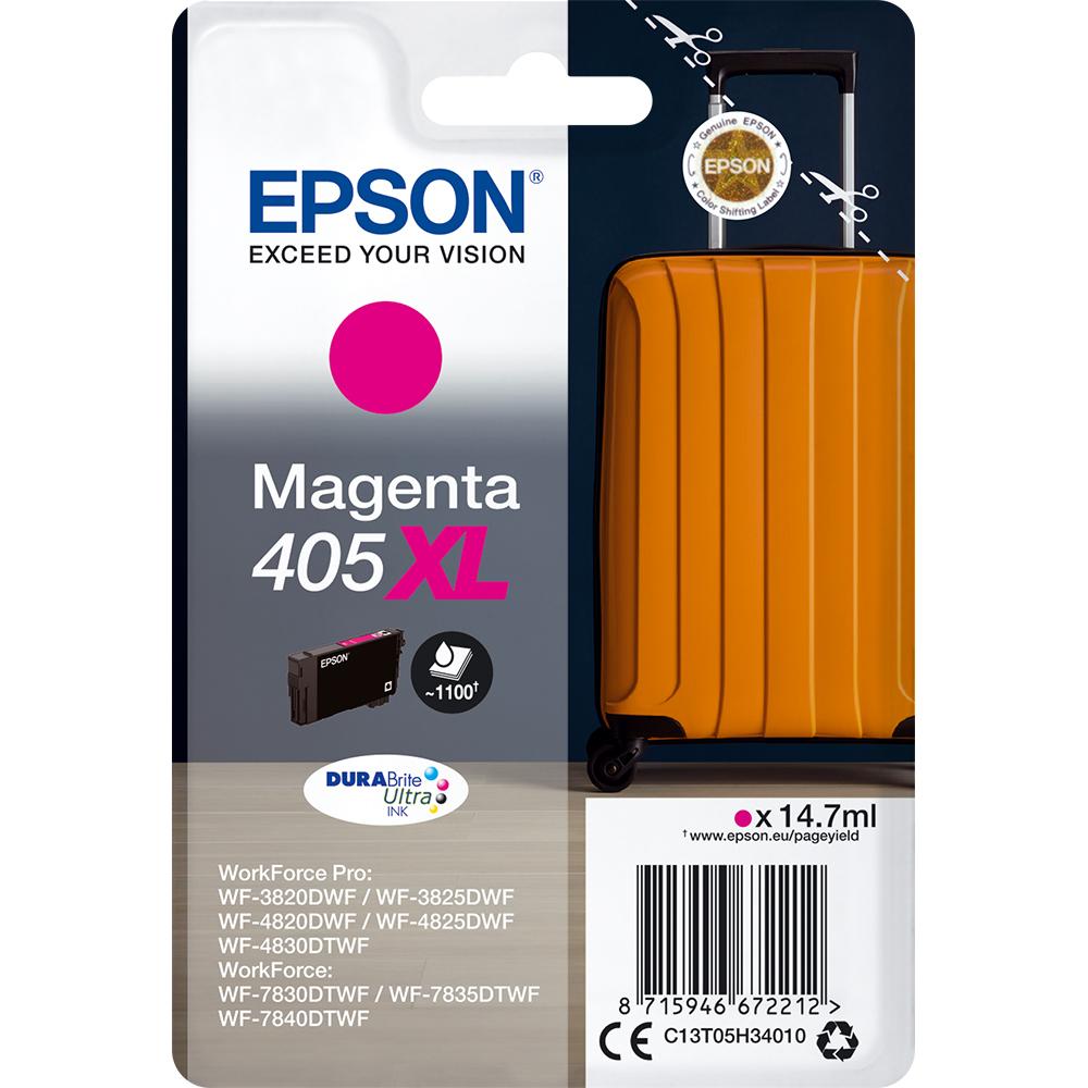 Original Epson 405XL Magenta High Capacity Ink Cartridge (C13T05H34010)