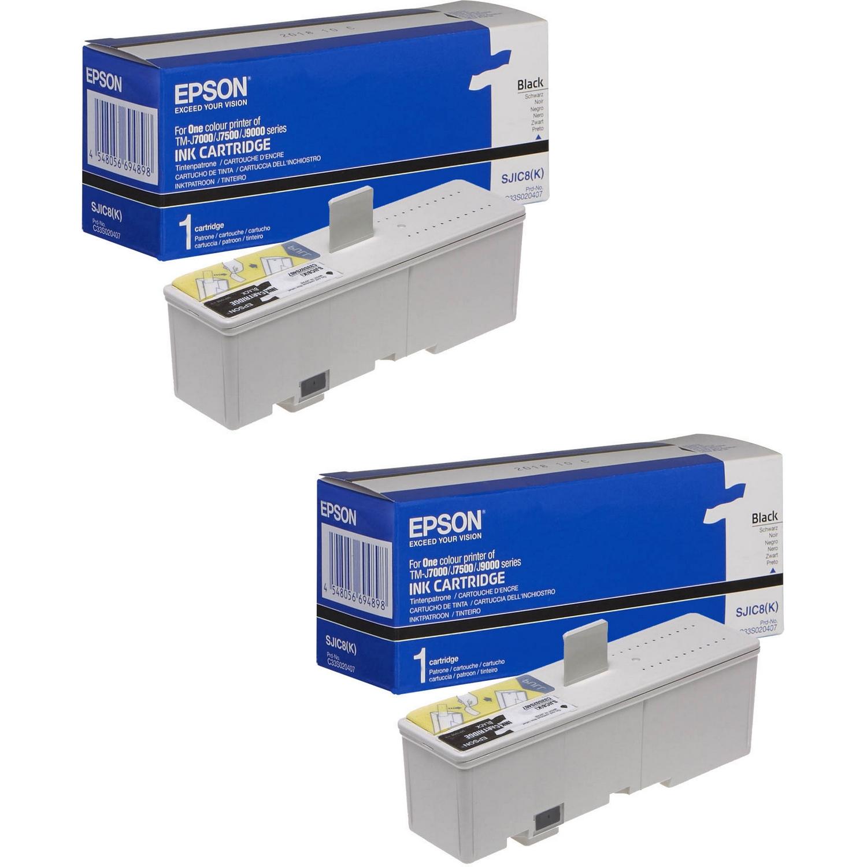 original epson s020407 black twin pack ink cartridges c33s020407 ink n toner uk compatible. Black Bedroom Furniture Sets. Home Design Ideas