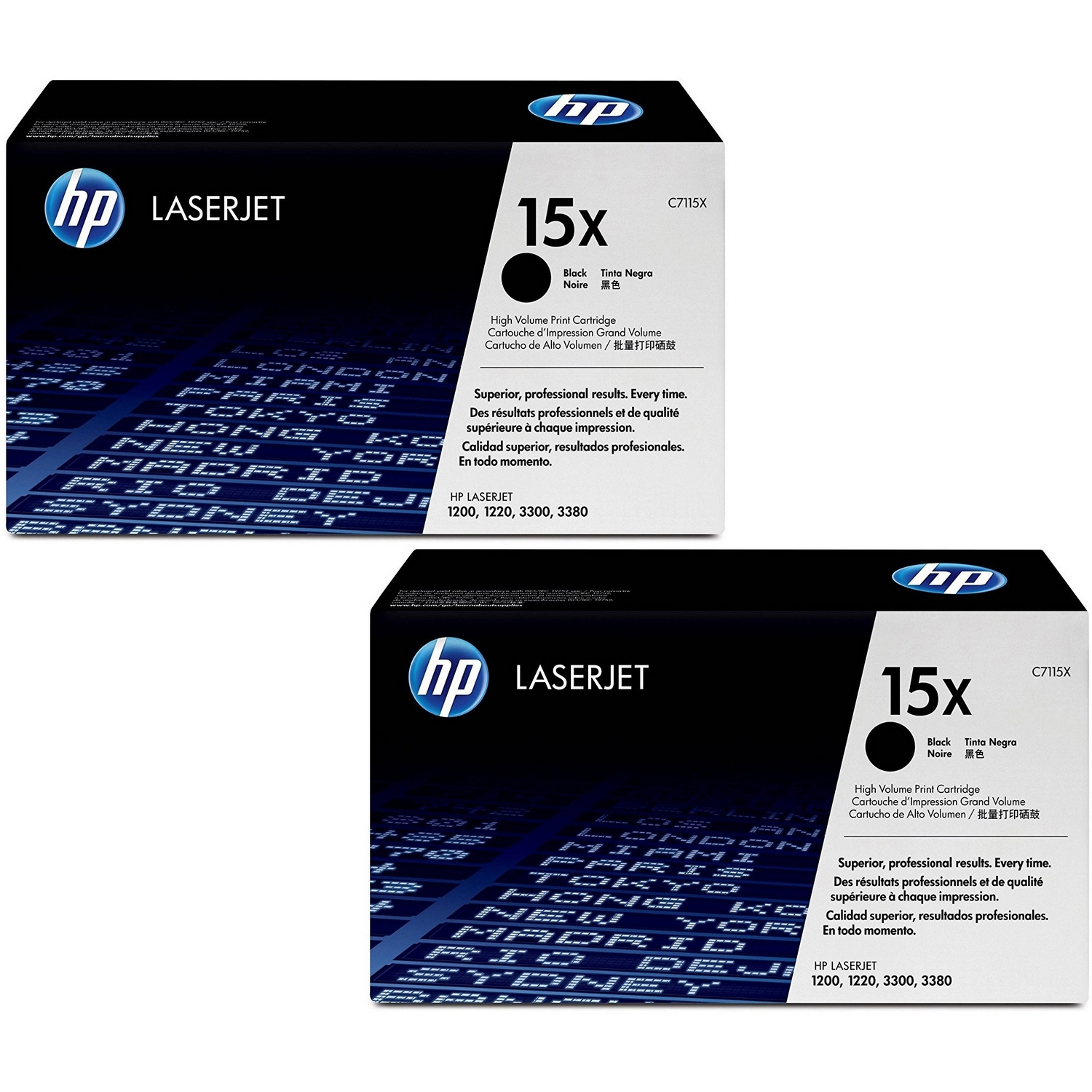 Original HP 15X Black Twin Pack High Capacity Toner Cartridges (C7115X)