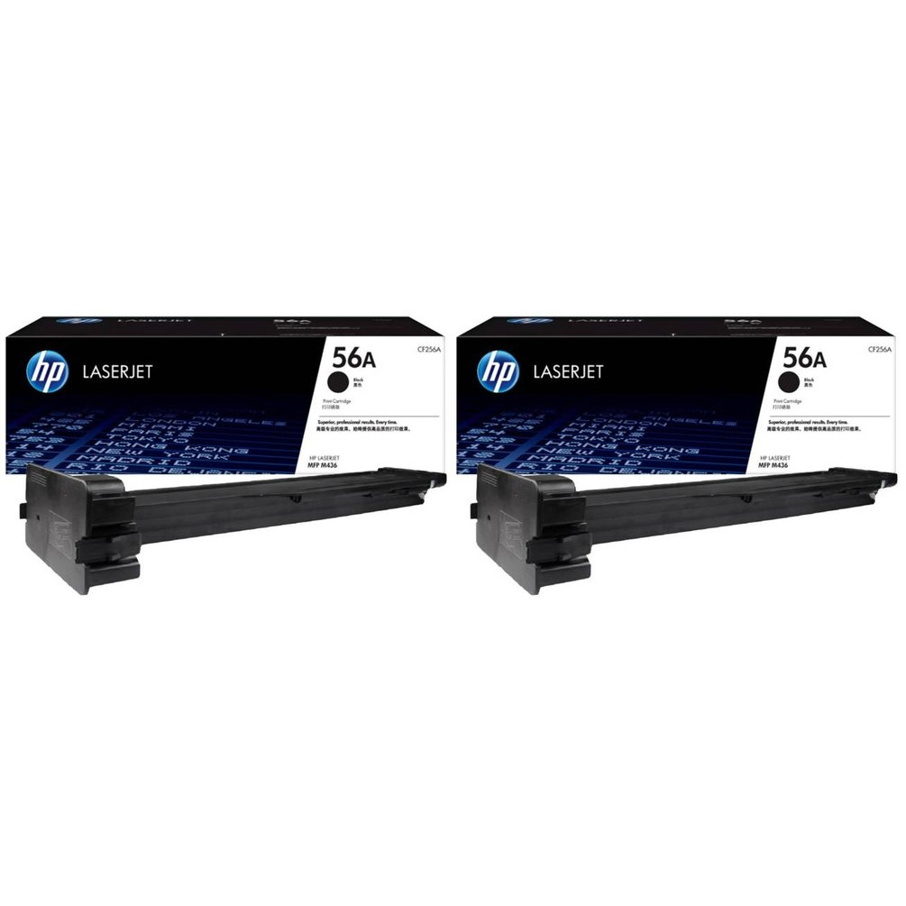 Original HP 56A Black Twin Pack Toner Cartridges (CF256A)