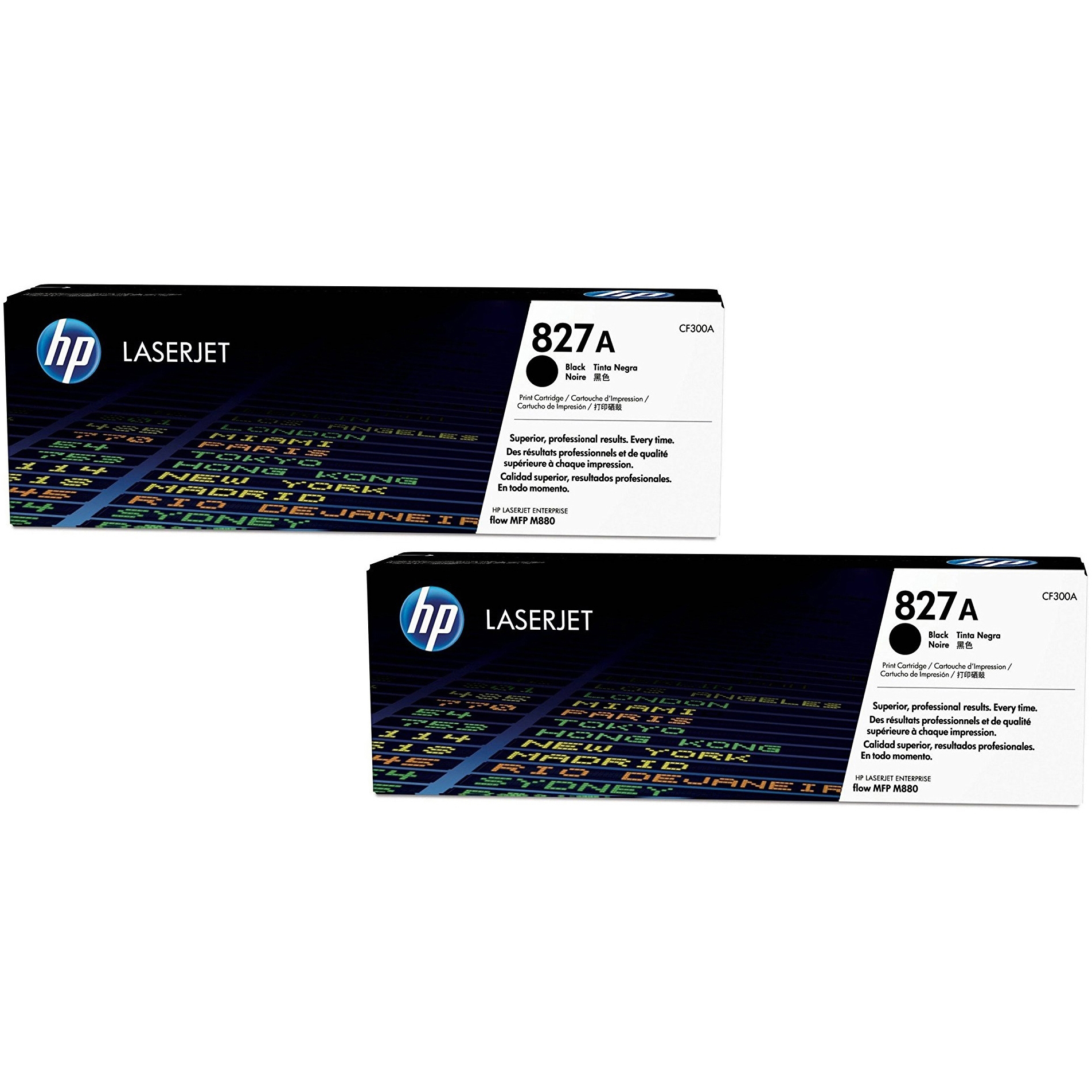 Original HP 827A Black Twin Pack Toner Cartridges (CF300A)
