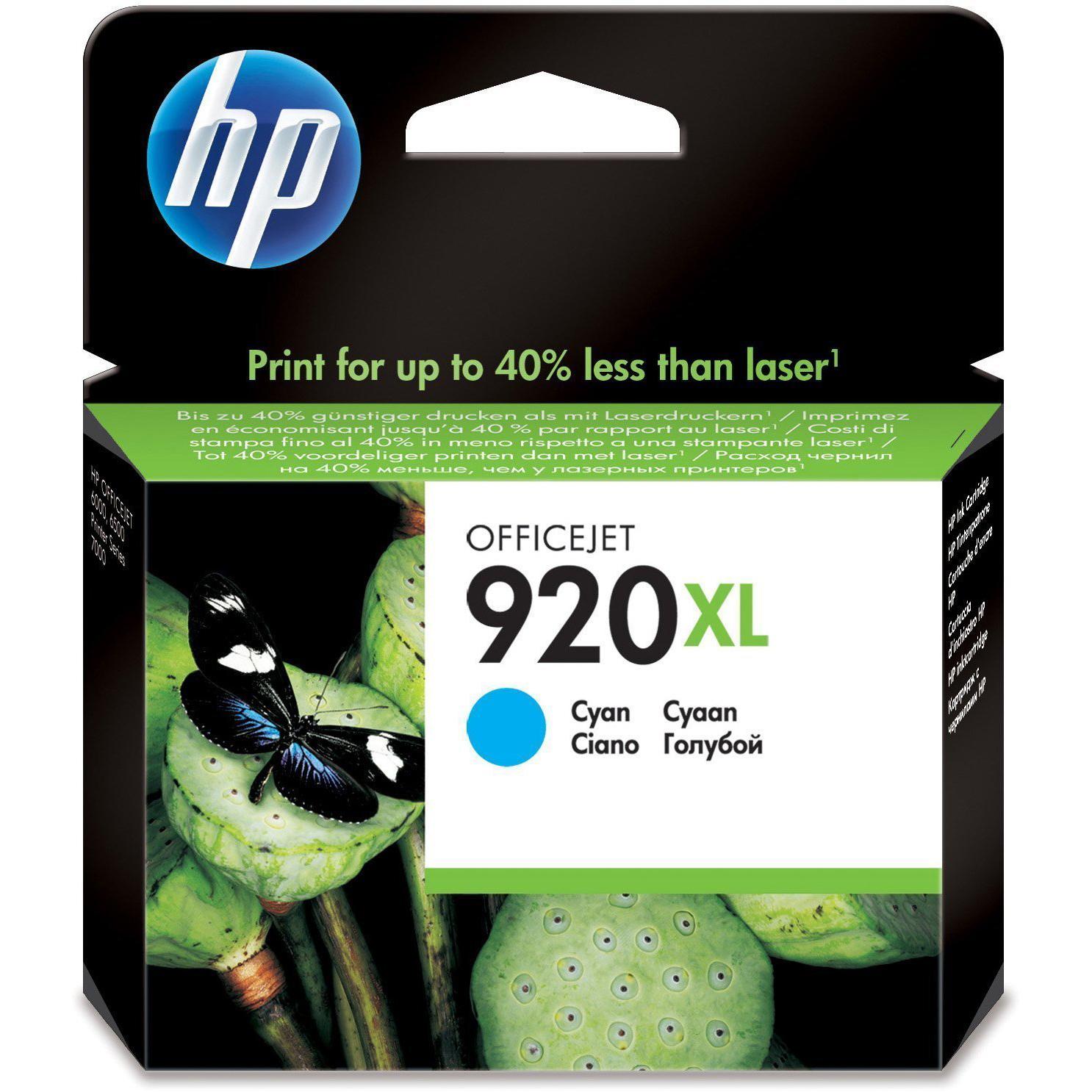 Original HP 920XL Cyan High Capacity Ink Cartridge (CD972AE)