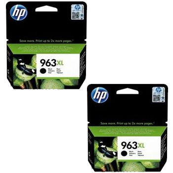 Original HP 963XL Black Twin Pack High Capacity Ink Cartridges (3JA30AE)