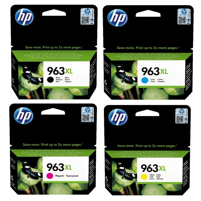 Original HP 963XL CMYK Pack High Capacity Ink Cartridges (3YP35AE)